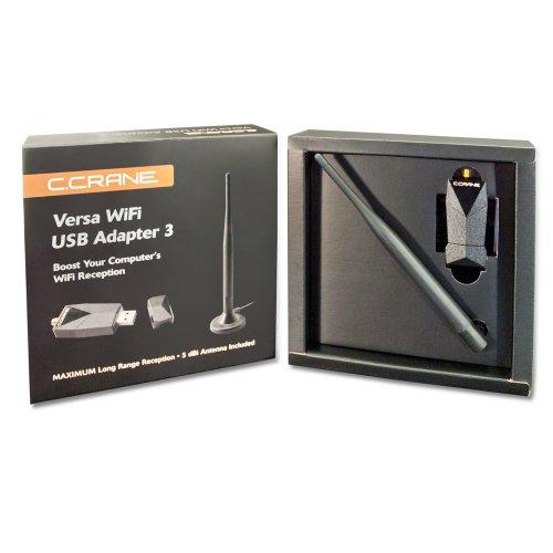 C. Crane Versa USB WiFi Adapter 3 – High Power Long Range 802.11 B G N Wireless Network Adapter by C.Crane (Image #4)