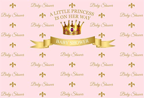 Yeele 5x3ft Photography Background Little Princess Baby Shower Photo Backdrop Expected Mother Party Gold Crown Pink Girl Gender Reveal Photo Booth Props Video Drapes Wallpaer]()