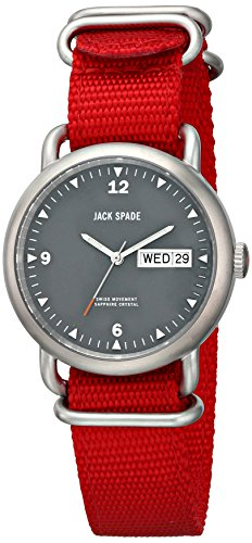 - Jack Spade Men's WURU0030 Conway Stainless Steel Watch with Red Canvas Strap
