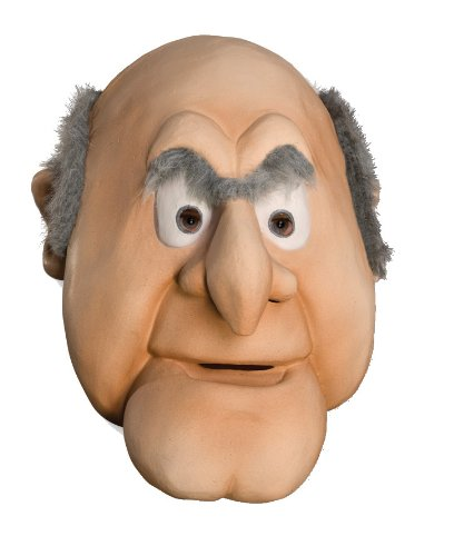 [The Muppets Deluxe Overhead Latex Mask, Statler] (Famous Duos For Halloween Costumes)