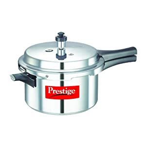 Prestige Popular Aluminium Pressure Cooker, 4 Liters