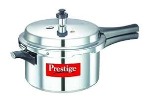 Prestige Popular Aluminium Pressure Cooker, 4 Liters (PEE_10007_SIR Silver)