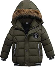 MODNTOGA Toddler Baby Boys Autumn Winter Down Jacket Coat Warm Padded Thick Outerwear Clothes Snowsuit Fleece