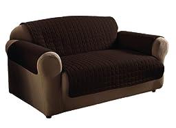 Innovative Textile Solutions Microfiber Sofa Furniture Cover, Chocolate