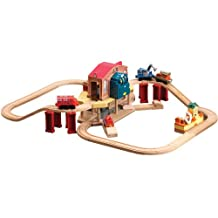 Chuggington Wooden Railway Lights and Sounds Cally's Rescue Set