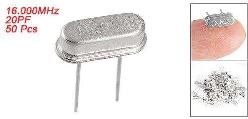 50 PC-16.000MHz AT49S 20pf DIP Quartz Crystal Oscillator