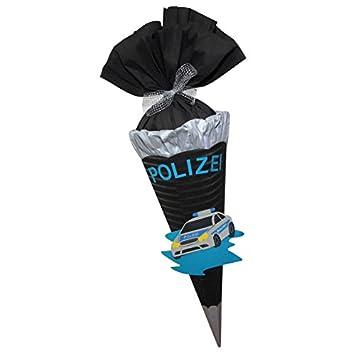 Escolar Bolsa Juego de manualidades Policía Auto dobladas - Azúcar Bolsa - de 3d Ondulado, 68 cm de alto: Amazon.es: Oficina y papelería