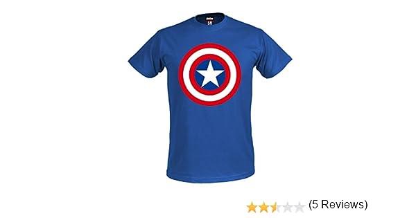Los Vengadores, la Era de Ultron camiseta escudo Capitán América superhéroes Marvel Shirt royal color azul producto oficial: Amazon.es: Ropa y accesorios