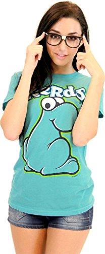 Nerds Candy TURQUOISE Juniors T-Shirt Tee (Juniors -