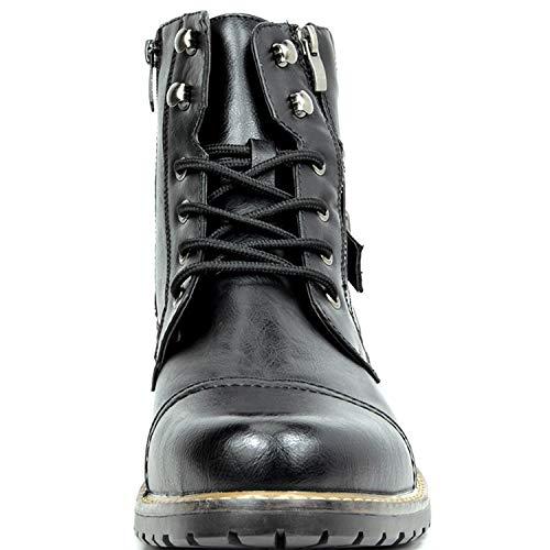 Bruno Marc Men's Military Motorcycle Combat Boots