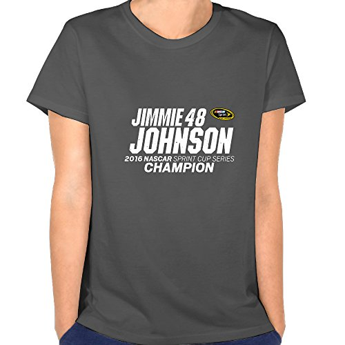 (Ladies Jimmie Johnson 2016 Sprint Cup Champion Short Sleeve Shirt. )