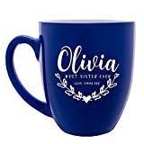 Personalized Sister Mug Best Sister Ever Mug Customizable with Name & Title Customized Gift for Sister Mother Women Unique Best Fried Gifts Coffee Mug Large Ceramic |16 oz Mug 7 Different Color