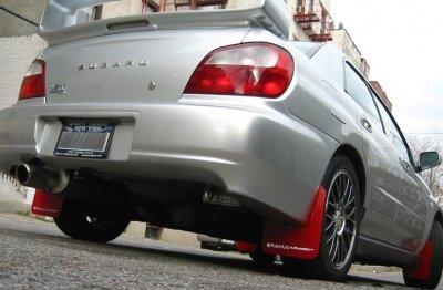 (Rally Armor MF2-UR-RD/WH Red, White Mud Flap with Logo (1993-2001 Subaru Impreza UR))