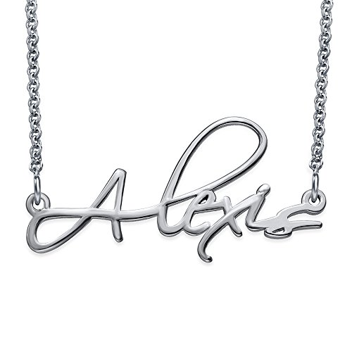 Personalized Script Name Necklace in Sterling Silver - Custom Made