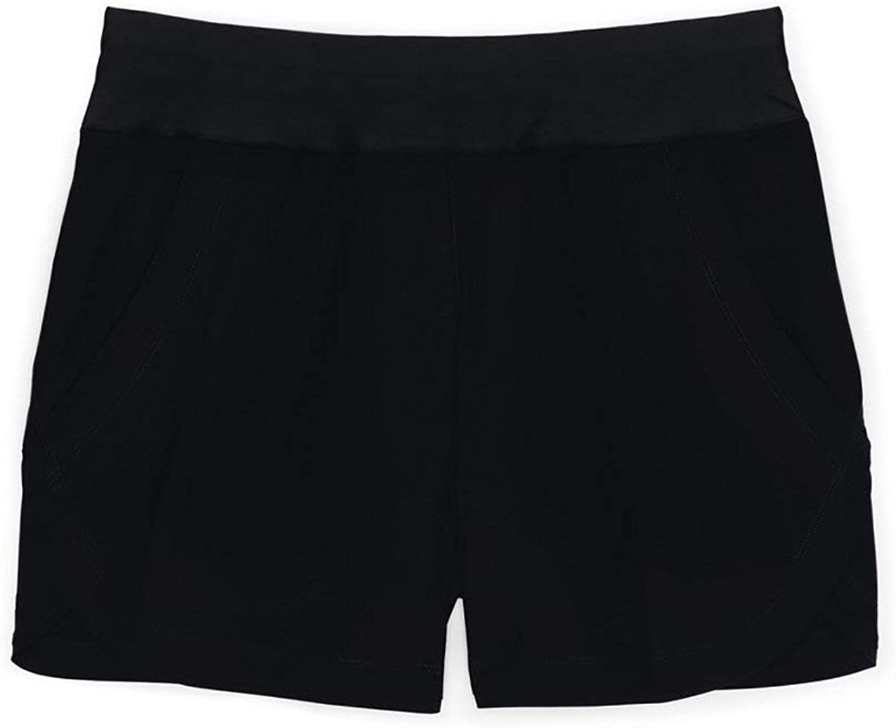 Lands End Womens 5 Quick Dry Elastic Waist Board Shorts Swim Cover-up Shorts with Panty