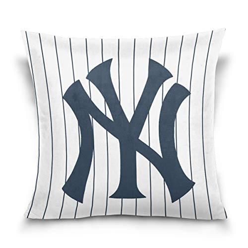 Actorland Pillowcase Cushion Cover Yankees MLB Art Home Decor Sofa Throw Pillow Cover ()