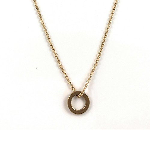 Ballari Dainty Pendant Necklace for Women, Raw Brass Eternity Circle, Karma Circle, Delicate Chain, Gift for Her