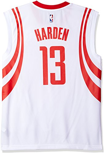 NBA Men's Houston Rockets James Harden Replica Player Home Jersey, 2X-Large, White