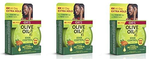 ORS OLIVE OIL EDGE CONTROL HAIR GEL W SWEET ALMOND OIL 2.25