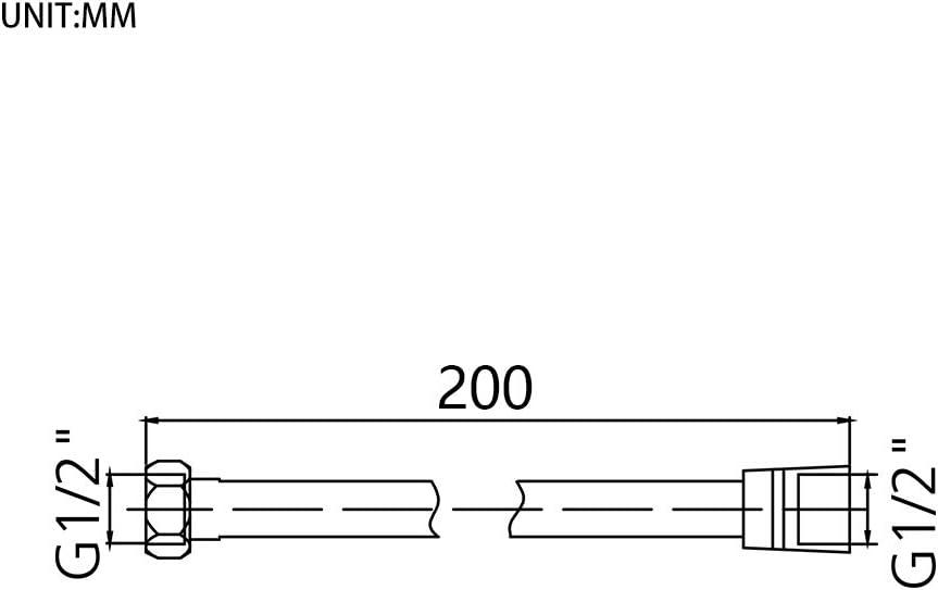 PVC Flexible Pipe Cable White GRIFEMA G852-20 Universal Anti-Twist Rubber Shower Hose,200CM