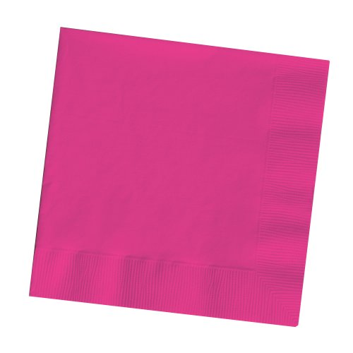 Creative Converting Touch of Color 2-Ply 50 Count Paper Lunch Napkins, Hot Magenta
