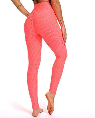 Fittoo Women's Honeycomb Ruched Butt Lifting High Waist Yoga Pants Chic Sports Stretchy Leggings Light (Stylish Yoga Clothing)