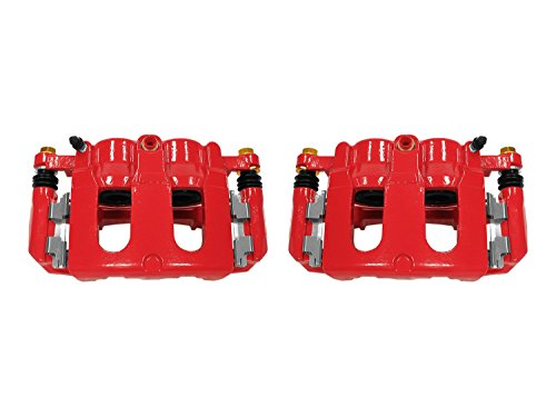 Power Stop S5214 Front Red Powder Coated Performance Caliper Set