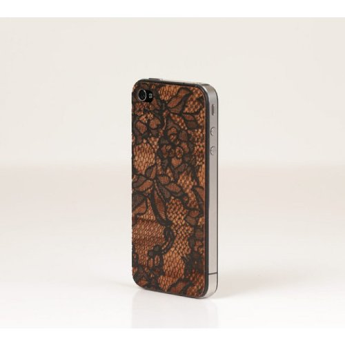 Lazerwood 22140 Anne Marie Jackson-Lace Holz Cover für Apple iPhone 5/5S inkl. Displayschutzfolie