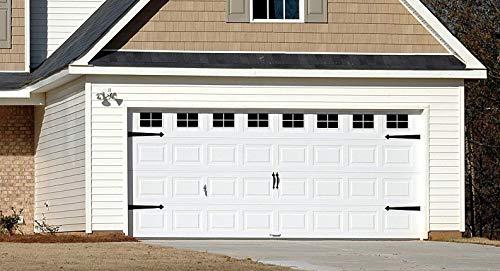 Decorative Faux - VINYL Decals - Garage Door Windows (2 Car Garage)