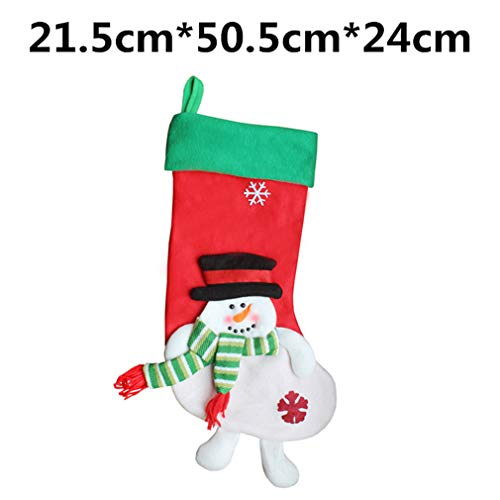 DE TI LILIANG 1Pc Christmas Stockings Hand Making Crafts Children Candy Gift Bag Santa Bag Snowman Festive Party 17213b