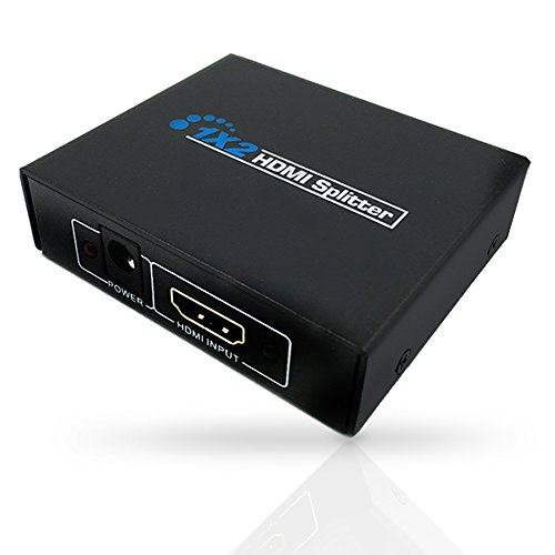 1-In 2-Out HDMI Splitter Adapter (Black) - 2