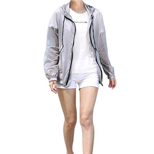 日焼け止め服 レディース  薄手 透け感 ゆったり 紫外線防止 防撥水 パーカー 長袖 戸外 多彩 上着