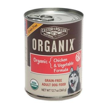 CASTOR & POLLUX DOG FOOD ORGANIX CAN CHKN VEG, 12.7 OZ