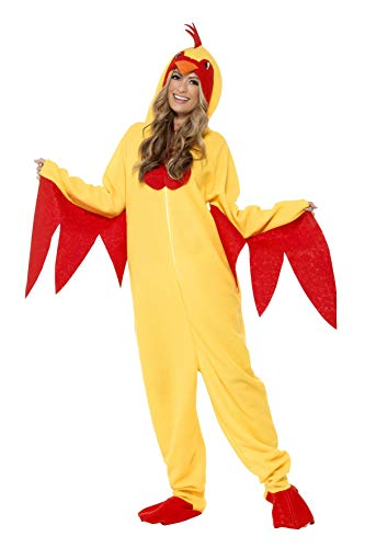 Unisex Chicken Suit Animal Costume - Promotional Mascot, Dress Up Parties, Fuzzy Chicken, Zip Up One - http://coolthings.us