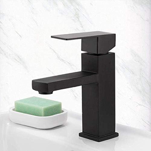 DXX-HR タップタップ流域の蛇口ブラックスクエアバスルームシンクの蛇口タップステンレス鋼の浴室の蛇口デッキは流域ミキサータップをマウント