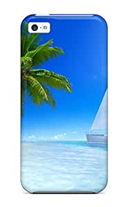 New Style Quality Case Cover With Great Tropical Beach Nice Appearance Compatible With Iphone 5c