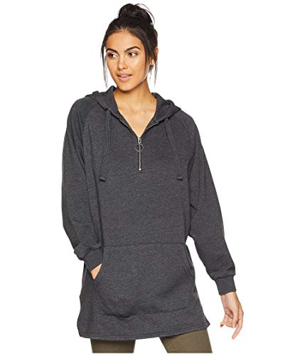 - Volcom Junior's Schlebrity Oversized Hooded Fleece Dress, Black, Extra Small/Small