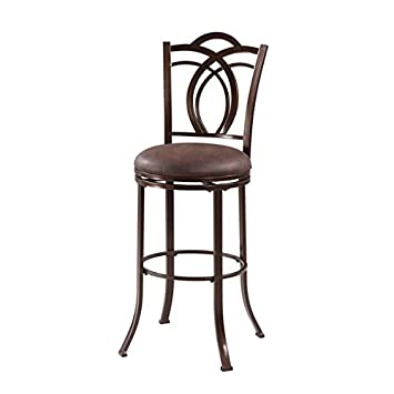 Swell Amazon Com Khalifah Sturdy Metal Swivel Bar Stool With Squirreltailoven Fun Painted Chair Ideas Images Squirreltailovenorg