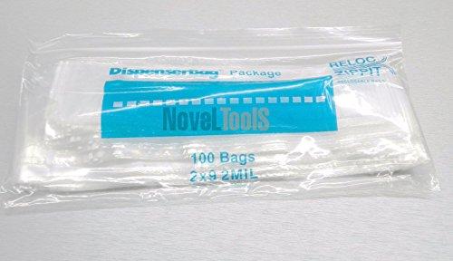 (1000 Reloc Ziplock Bags 2x9 Clear 2 mil reclosable Baggies 2