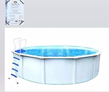 Piscina desmontable de 3, 6 x 1, 2 m con interior con grosor de 0, 4 mm, de acero blanco y PVC: Amazon.es: Jardín