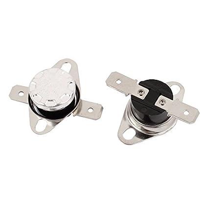 2pcs KSD301 250V 10A 85 Grau Interruptor NC Térmica
