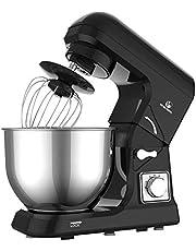 MURENKING MK36C Food Stand Mixer 1000W 5L Mixing Bowl 6 Speeds Control Kitchen Machine with Splash Guard, Beater, Dough Hook & Whisk