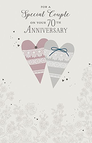 Amazon 70th platinum wedding anniversary greeting card 70 70th platinum wedding anniversary greeting card 70 years of togetherness m4hsunfo
