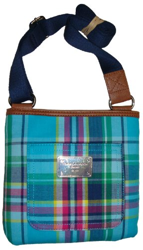 Handbag Hilfiger Crossbody Xbody Plaid Tommy Women's Girl's Blue Fd7qUWU