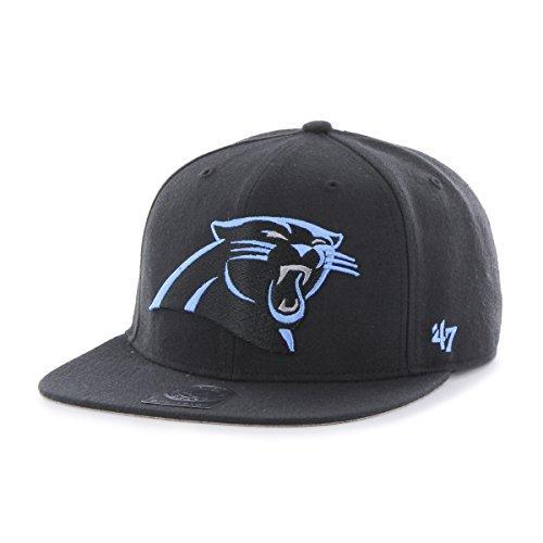 '47 NFL Carolina Panthers Super Shot Captain Adjustable Hat, One Size Fits Most, Black]()