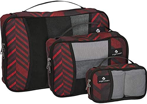 TRIBAL IRREGULARITY RED XS, S, M Eagle Creek Pack-it Original Cube Set-3pc St