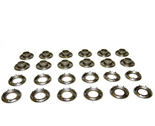 Grommets, #2 Rolled Rim Spur, 3/8'' Stainless Steel, Heavy Duty, 12 Piece Set by Northwest Tarp & Canvas