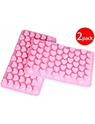 Cy3Lf Silicone Mini Heart Shape Ice Cube Candy Chocolate Mold (PACK OF 2)