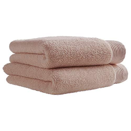 Stone & Beam Organic Cotton Hand Towel Set, 2-Pack, Rose