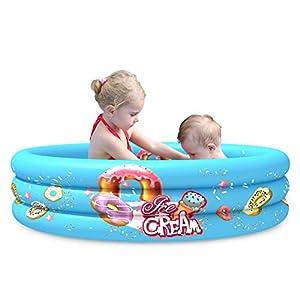 Piscina gonfiabile rotonda, diametro 110 cm, profondità 30 cm, adatta per bambini e per lavare gli animali, fuori terra 41rE3fmZvVL. SS300